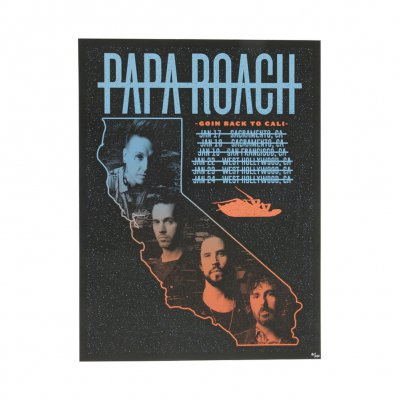 papa-roach - Goin Back to Cali 2019 Tour Poster