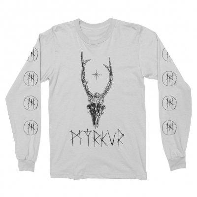 myrkur - Deer Skull Long Sleeve (White)