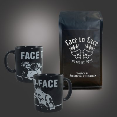face-to-face - Coffee Bag + Boxers Mug (Black) Bundle