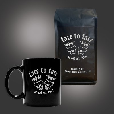 face-to-face - Coffee Bag + Skull Crown Mug (Black) Bundle