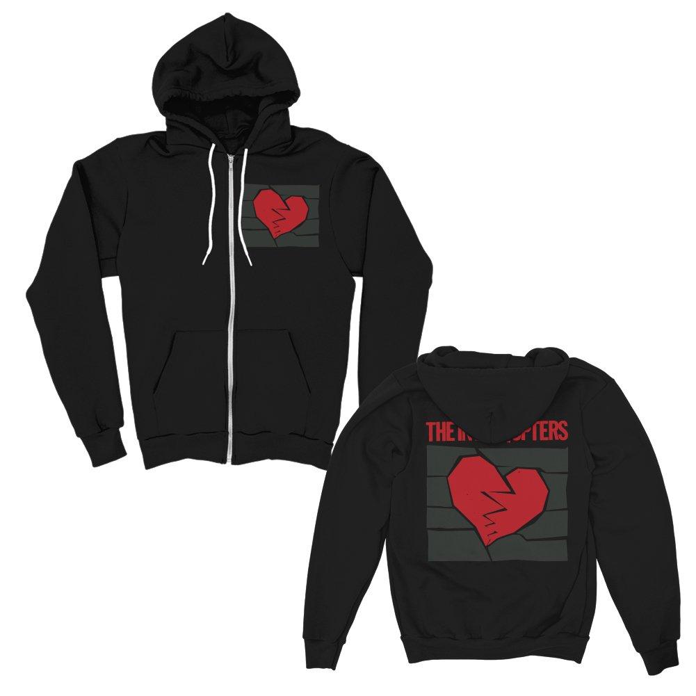 Broken Heart Zip Up (Black)