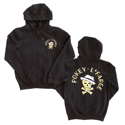 pokey-lafarge - Skull and Crossbone Hoodie (Black)