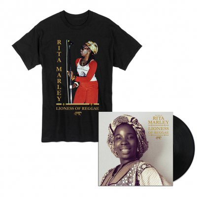 Rita Marley - Lioness of Reggae LP + Tee (Black) Bundle