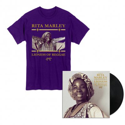 Rita Marley - Lioness of Reggae LP + Tee (Purple) Bundle