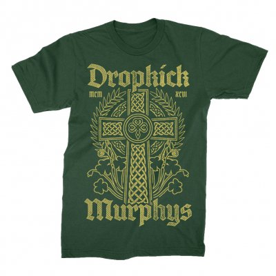 dropkick-murphys - Celtic Cross Tee (Forest Green)