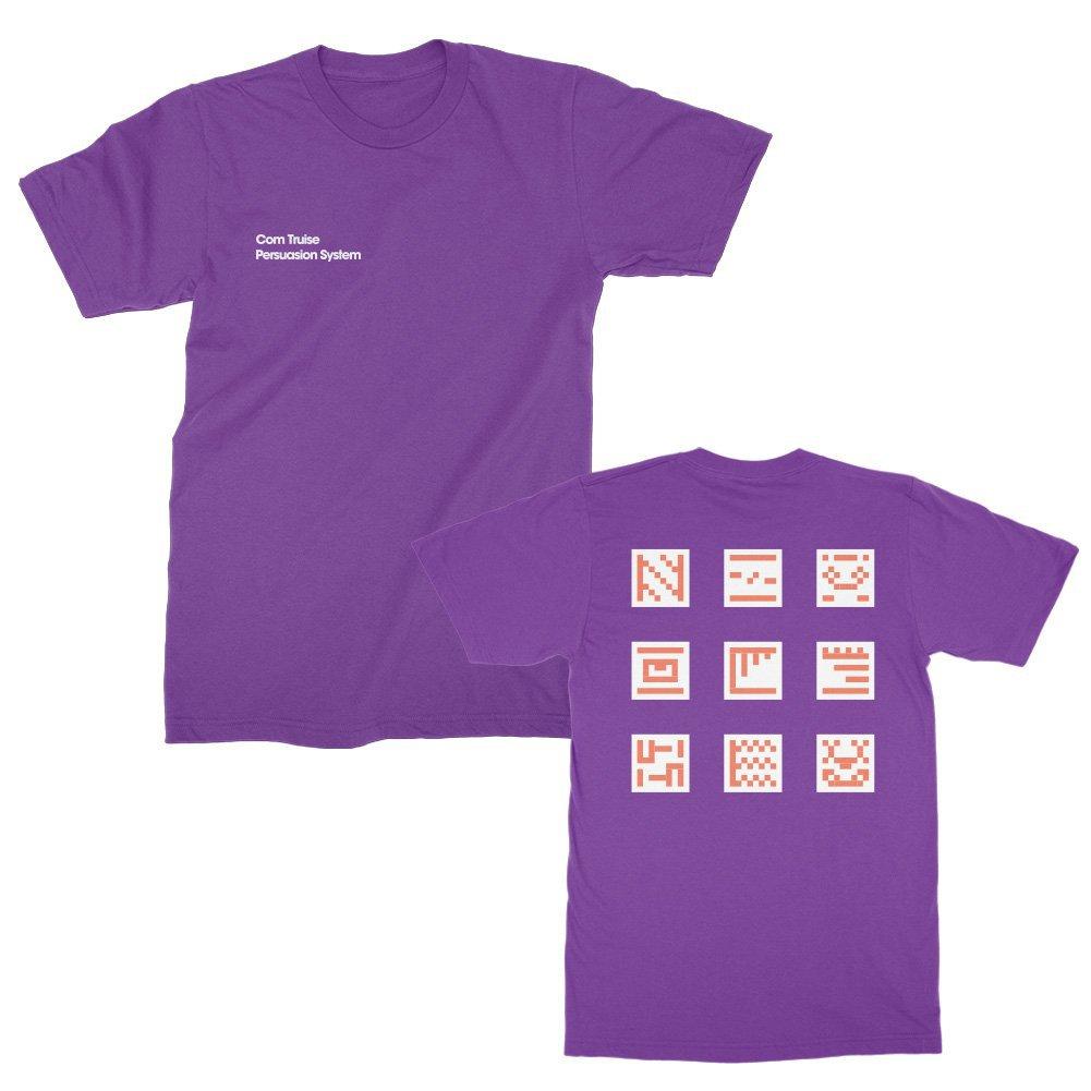 IMAGE   Persuasion System Grid T-Shirt (Purple)