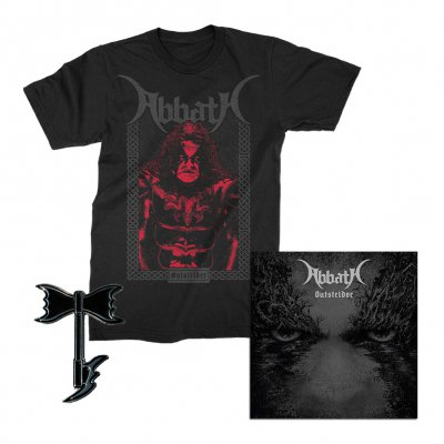 abbath - Outstrider Frame T-Shirt + Axe Enamel Pin + CD