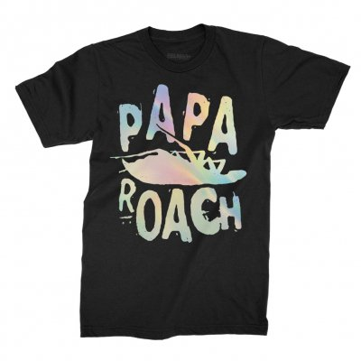 papa-roach - Classic Logo Foil Tee (Black)
