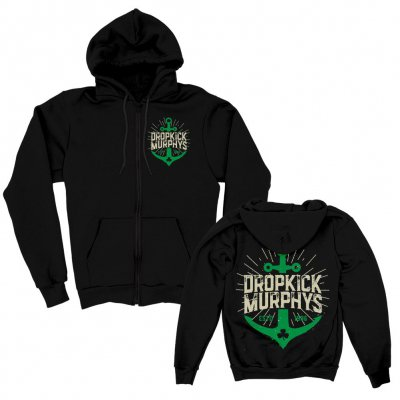 Anchor Zip-Up Hoodie (Black)