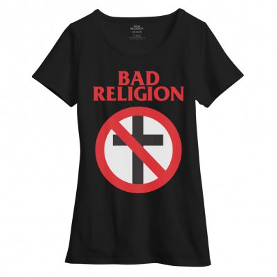 bad-religion - Crossbuster Women's Boatneck Tee (Black)