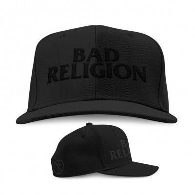 bad-religion - Blackout Logo Snapback Hat (Black)