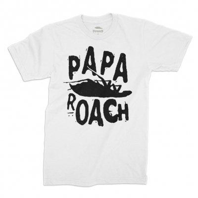 papa-roach - Classic Logo Tee (White)