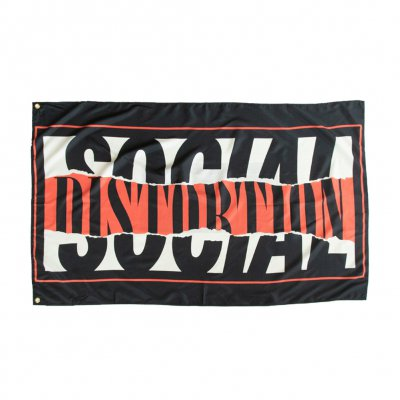social-distortion - Torn Logo Flag (Black)