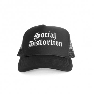 social-distortion - Old English Trucker Hat (Black)