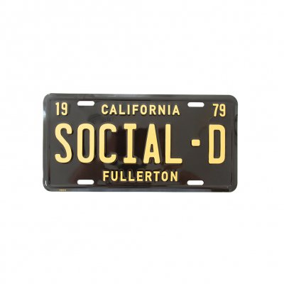 social-distortion - Sick Boy License Plate (Black)