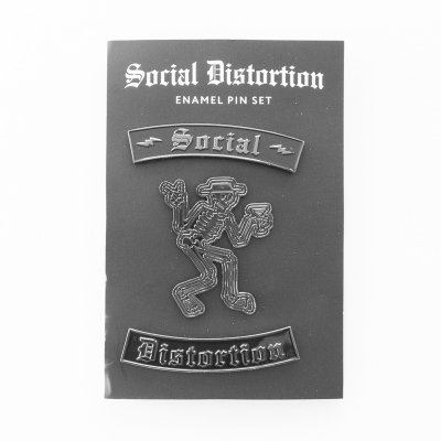 social-distortion - Skelly 3 Enamel Pin Set