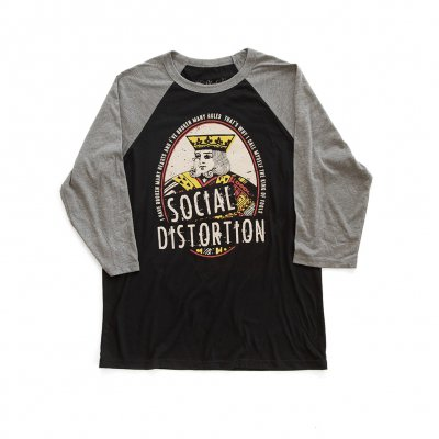 social-distortion - King Of Fools Raglan (Black/Grey)