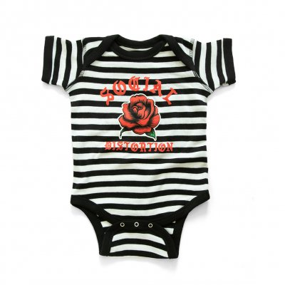 social-distortion - Baby Rose Onesie (Black/White)