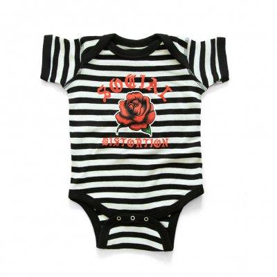 social-distortion - Baby Rose Onesie (Black/White)