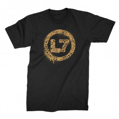 l7 - Leopard Spray Logo Tee (Black)