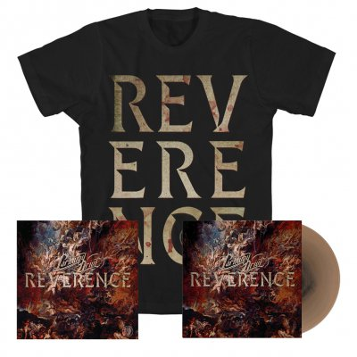 parkway-drive - Reverence LP (Gold) + Big Letter Tee (Black) + Signed Lithograph Bundle