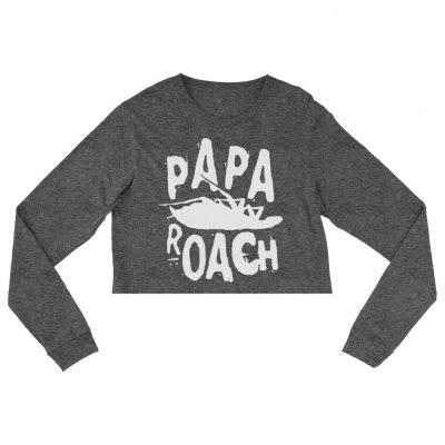 papa-roach - Classic Logo Cropped Women's Crewneck Sweatshirt (