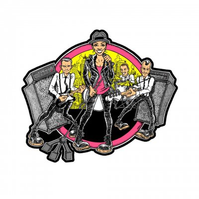the-interrupters - Cartoon Band Enamel Pin