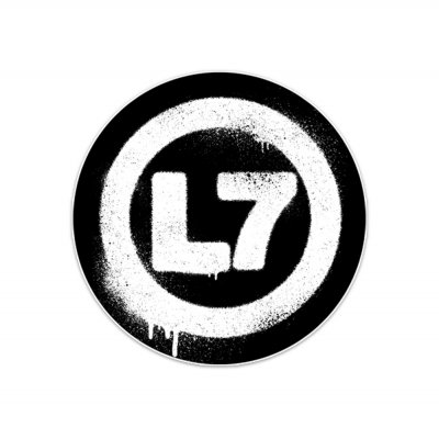 l7 - Drip Logo Sticker (White/Black)