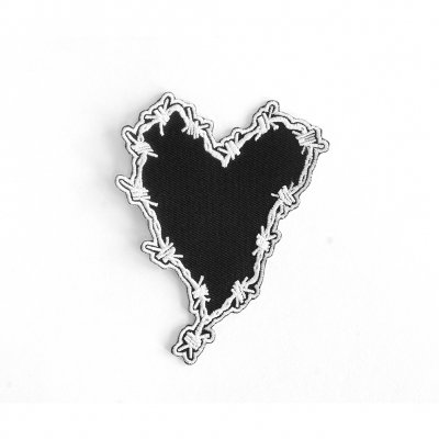 frank-iero - Barbed Wire Heart Die Cut Patch