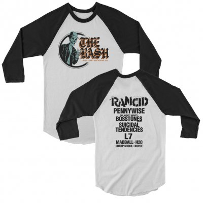 the-bash - Logo Lineup Raglan (White/Black)