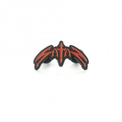Satan - Classic Logo Die Cut Enamel Pin