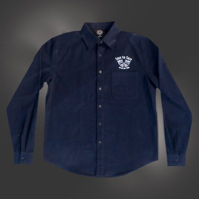 Skull Crown Flannel Button Down (Navy)