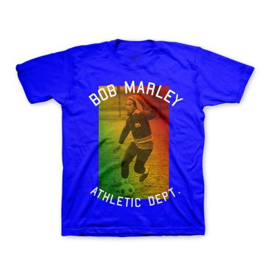 Bob Marley - Youth Athletic Dept Soccer Tee (Blue)