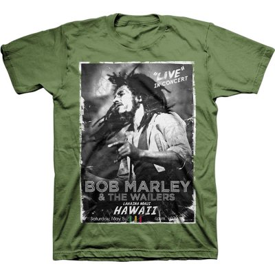 Bob Marley - Hawaii Concert T-Shirt (Green)