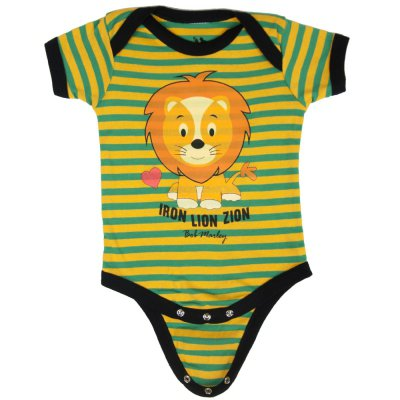Bob Marley - Iron Lion Zion Creeper Onesie (Green/Yellow)