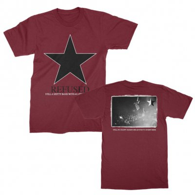 Refused - Shitty Band Tee (Maroon)