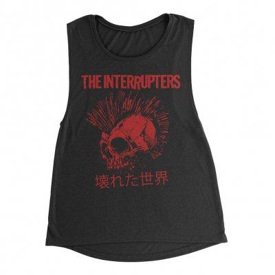 the-interrupters - Broken World Women's Muscle Tank (Black)