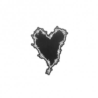 frank-iero - Barbed Wire Heart Enamel Pin