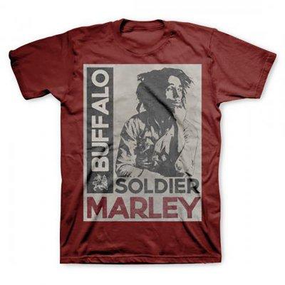 Bob Marley - Buffalo Soldier Tee (Maroon)