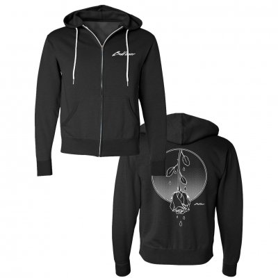 badflower - Weeping Rose Zip Up Hoodie (Black)