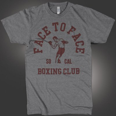 face-to-face - Boxing Club Tee (Heather Gray)