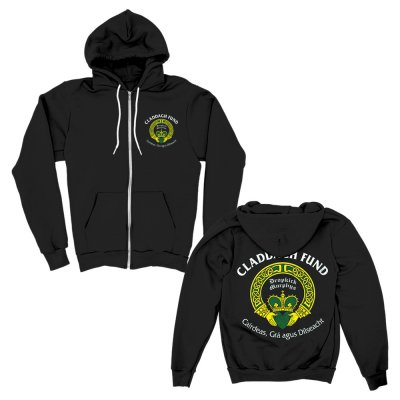 claddagh-fund - Logo Zip Up Hoodie (Black)