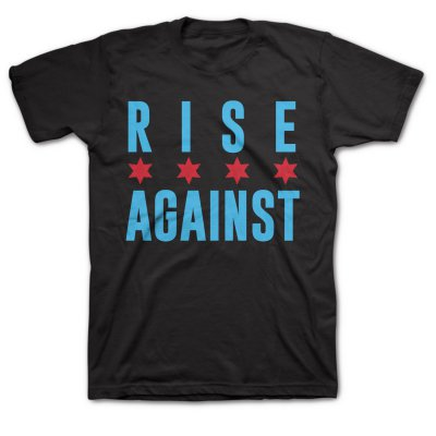 rise-against - Chicago Flag Tee (Black)