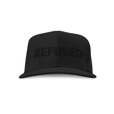 refused - Puff Snapback Hat (Black)