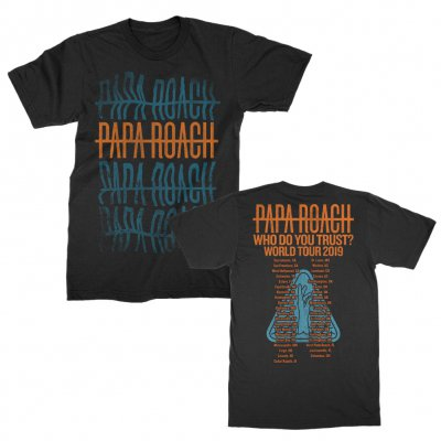 papa-roach - Warped Repeater 2019 Tour Tee (Black)