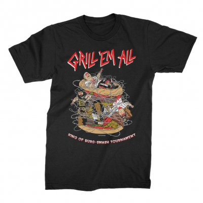 grill-em-all - Burg-Smash Tourney T-Shirt (Black)
