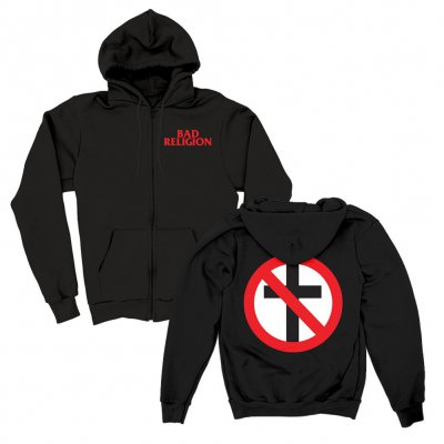 bad-religion - Big Crossbuster Zip-Up Hoodie (Black)