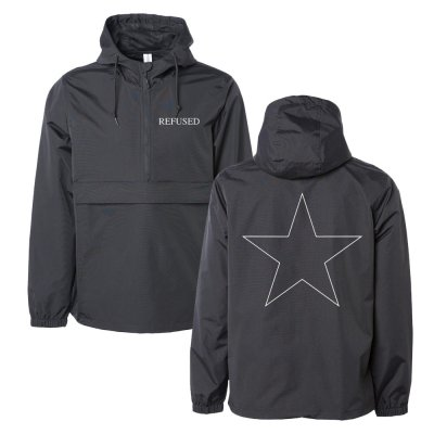 Shitty Star Anorak Windbreaker (Black)