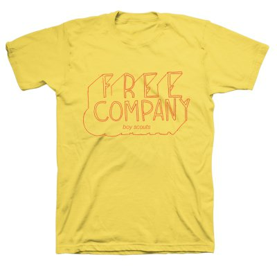 anti-records - Free Company Tee (Yellow)