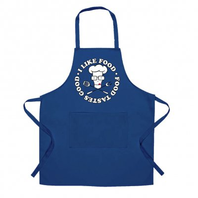 descendents - I Like Food Apron (Royal Blue)